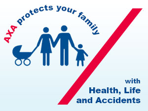 AXA protects your family, with Health, Life and Accidents